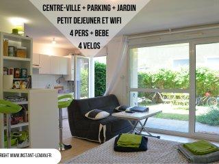 Instant-Léman I - Studio suréquipé - centre-ville + jardin + vélos + parking - Thonon-les-Bains vacation rentals