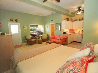 Joyful Juliette studio! Spacious studio unit with full kitchen and sunset views! - Cruz Bay vacation rentals