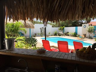 QUIET RELAXING PRIVATE VILLA~ OWN POOL & TIKI BAR~90 seconds from the beach! - Savaneta vacation rentals