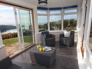 GWILLEN welcoming family home, tiered garden, overlooking the beach at Mawgan - Mawgan Porth vacation rentals