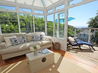PORTHCURNO BAY VIEW, part of former hotel, dazzling sea views, chic interior - Porthcurno vacation rentals
