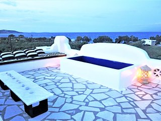 PAROS NAOUSA VILLA - BEACH FRONT 75m away with outstanding Sea and Island views - Naoussa vacation rentals